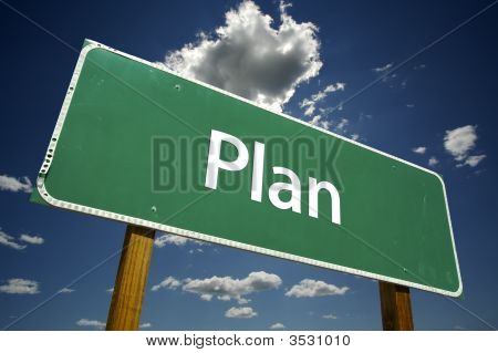 Plan Road Sign