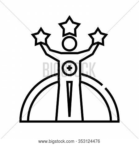 Glory Line Icon, Concept Sign, Outline Vector Illustration, Linear Symbol.