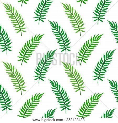 Palm Leaf Seamless Pattern. Areca Leaves Vector Illustration. Floral Background.