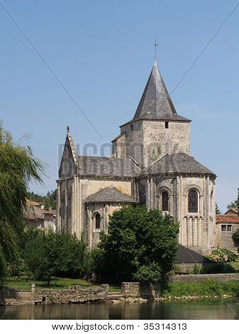 Jazeneuil 12Th Century Romanesque Church, France