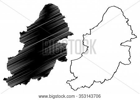 Birmingham City (united Kingdom Of Great Britain And Northern Ireland, Uk) Map Vector Illustration,