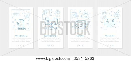 Vector Four Vertical Mobile Banners Of Virtual Reality - 04