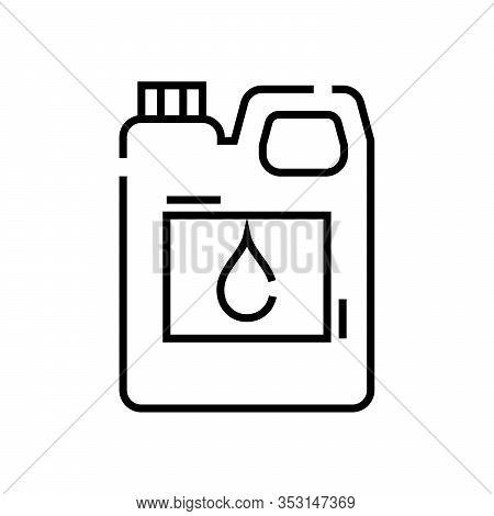 Jerrycan Line Icon, Concept Sign, Outline Vector Illustration, Linear Symbol.