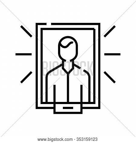 Honours Board Line Icon, Concept Sign, Outline Vector Illustration, Linear Symbol.
