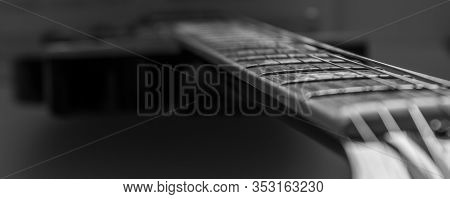 Neck And Fretboard Of An Electric Guitar
