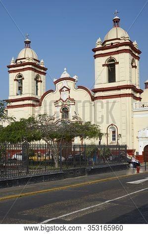Trujillo, Peru - September 1, 2014: Historic Church And Monastery El Carmen In The Spanish Colonial