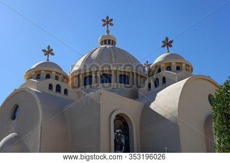 Coptic Orthodox Church In Sharm El Sheikh, Egypt. All Saints Church. All Saints Lives In Heavens El
