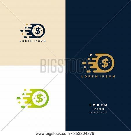 Fast Coin Logo Designs Concept Vector, Fast Cash Logo Template, Money Logo Designs