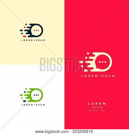 Fast Solution Logo Designs Concept, Fast Consult Logo, Consult Sign Vector
