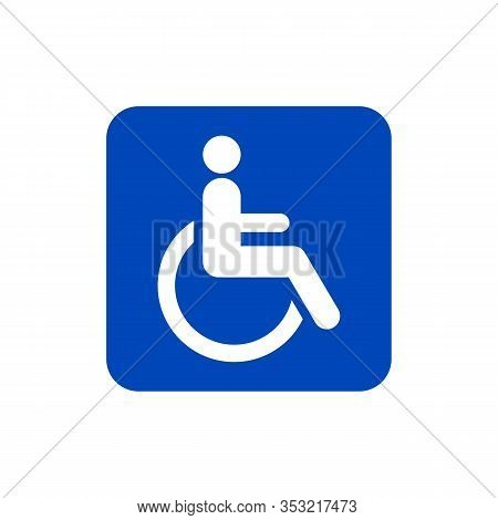 Disabled Icons Are Isolated Against A Blue Background. Broken Icons In A Trendy Design Style. Flat I
