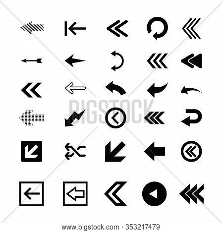 Set Left Arrow Icon, Left Arrow Icon Eps10, Left Arrow Icon Vector, Left Arrow Icon Eps, Left Arrow