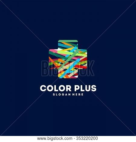 Printcolorful Plus Healthcare Logo Vector, Plus Logo Designs Template, Design Concept, Logo, Logotyp