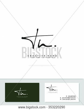 T N Tn Initial Logo Signature Vector. Handwriting Concept Logo.