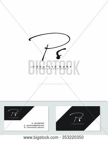 P S Ps Initial Logo Signature Vector. Handwriting Concept Logo.