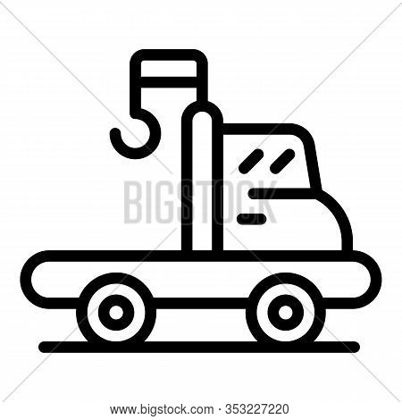 Tow Truck Assistance Icon. Outline Tow Truck Assistance Vector Icon For Web Design Isolated On White