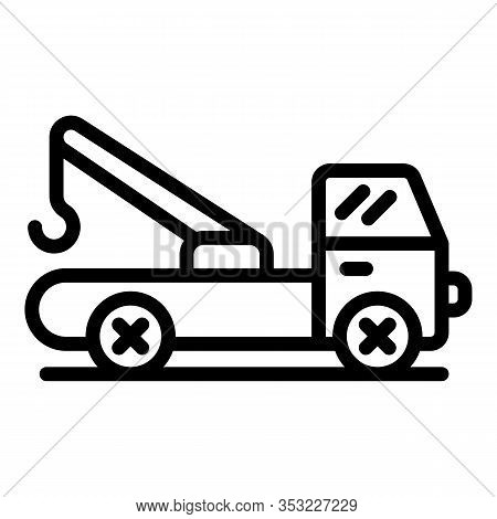 Repair Tow Truck Icon. Outline Repair Tow Truck Vector Icon For Web Design Isolated On White Backgro