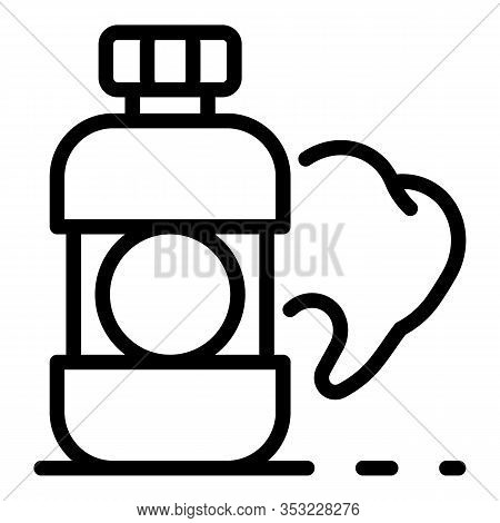 Tooth Elixir Icon. Outline Tooth Elixir Vector Icon For Web Design Isolated On White Background