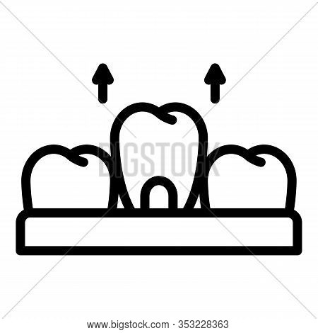 Removal Of A Tooth Icon. Outline Removal Of A Tooth Vector Icon For Web Design Isolated On White Bac