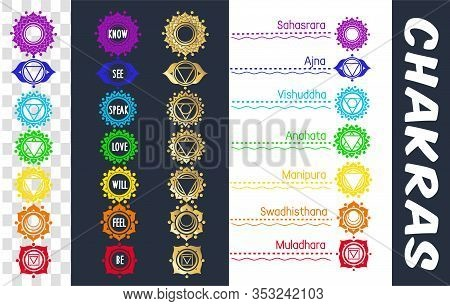 Set Of Icons With Chakras