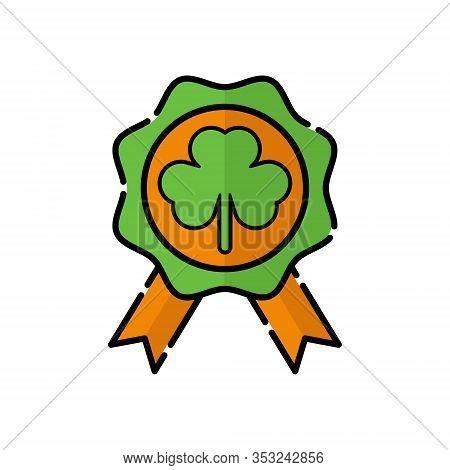 St. Patricks. St. Patricks icon. St. Patricks vector. Badge icon vector. St. Patricks badge symbol. St. Patrick's Day icon. St. Patricks web icon. St. Patrick's Day vector icon trendy flat symbol for website, sign, mobile, app, UI.