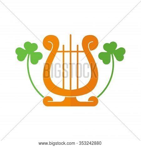 St. Patricks. St. Patricks icon. St. Patricks vector. Harp icon vector. Harp symbol. St. Patrick's Day icon. St. Patricks web icon. St. Patrick's Day vector icon trendy flat symbol for website, sign, mobile, app, UI.