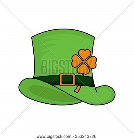 St. Patricks. St. Patricks icon. Leprechaun hat vector. Leprechaun icon vector. Leprechaun vector. St. Patricks symbol. St. Patrick's Day icon. St. Patricks web icon. St. Patrick's Day vector icon trendy flat symbol for website, sign, mobile, app, UI.