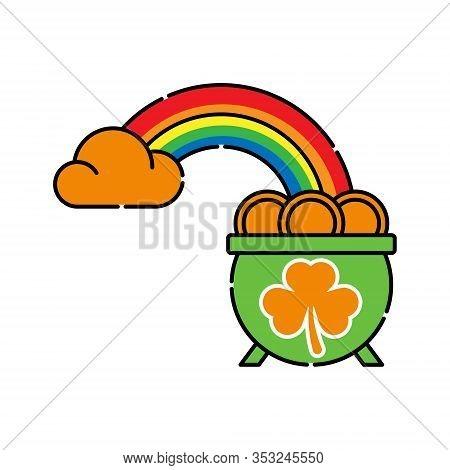 St. Patricks. St. Patricks icon. St. Patricks vector. Pot of Gold icon vector. St. Patricks Pot of Gold symbol. St. Patrick's Day icon. St. Patricks web icon. St. Patrick's Day vector icon trendy flat symbol for website, sign, mobile, app, UI.