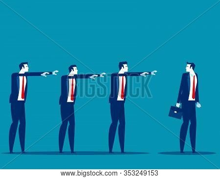 Business Followers. Concept Business Marketing Vector,  Flat Busines Cartoon Style Design