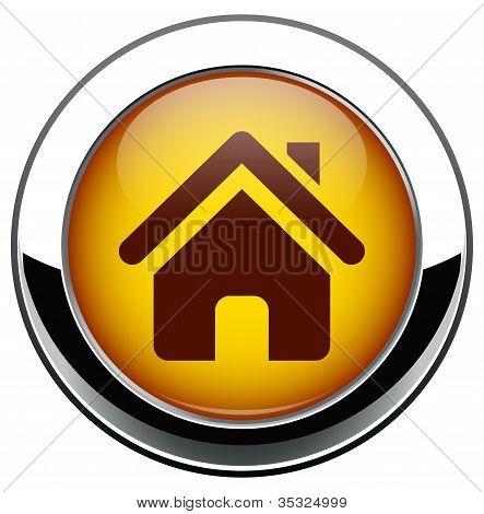 Metalik ev simgesini