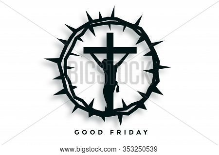 Crown Of Thorns With Jesus Christ Good Friday Background