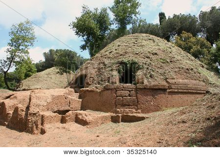 Tombs of Etruscan necropolis