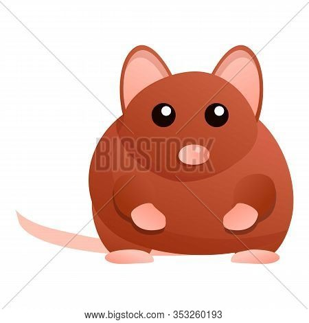 Fat Mouse Icon. Cartoon Of Fat Mouse Vector Icon For Web Design Isolated On White Background