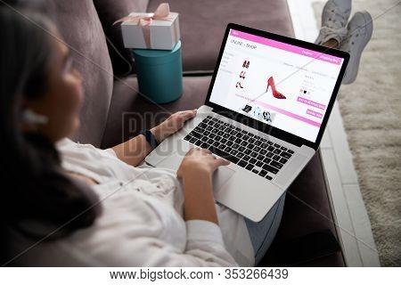 Easy Shopping On Favorite Website Stock Photo