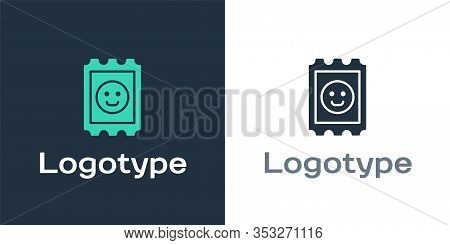 Logotype Lsd Acid Mark Icon Isolated On White Background. Acid Narcotic. Postmark. Postage Stamp. He