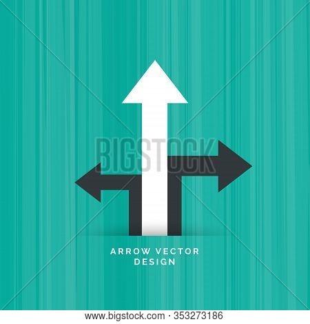 Black Directional Arrow With White Arrow Moving Upward
