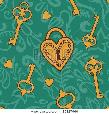 Keys-of-heart-pattern
