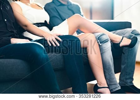 One Woman With Two Men. Threesome Or Love Triangle. Popular Powerful Boss Lady. Open Relationship Wi