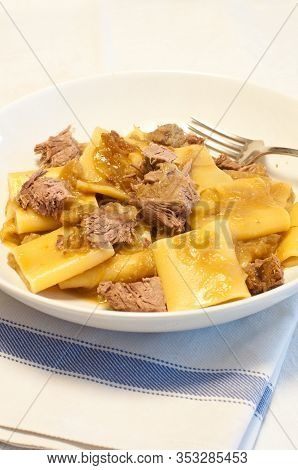 Paccheri With Genovese, Typical Neapolitan Sauce With Onions