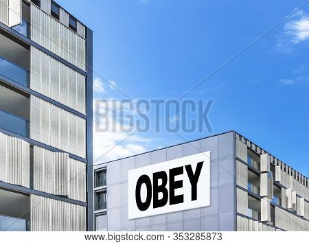 Modern Cityscape With Message