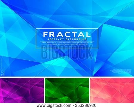 Modern Fractal Abstract Background. Low Poly And Fractal Vector Background Series, Applicable For We