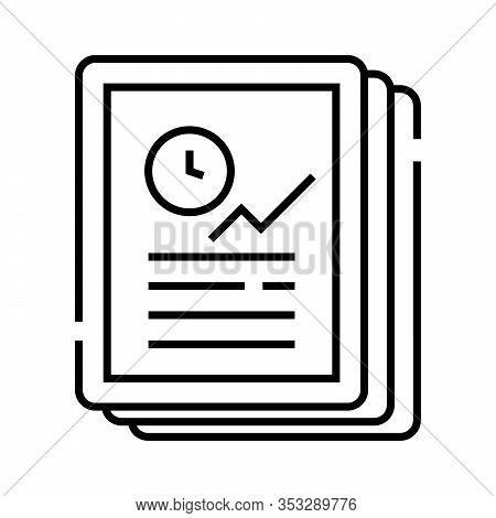 Objective Task Line Icon, Concept Sign, Outline Vector Illustration, Linear Symbol.