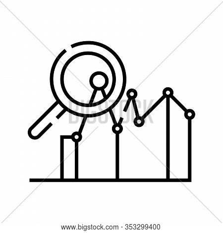 Market Valuation Line Icon, Concept Sign, Outline Vector Illustration, Linear Symbol.
