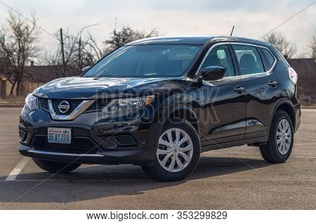 Washington Dc, Usa - February 29, 2020: Photo Of Black Nissan Rogue In The Open Air.