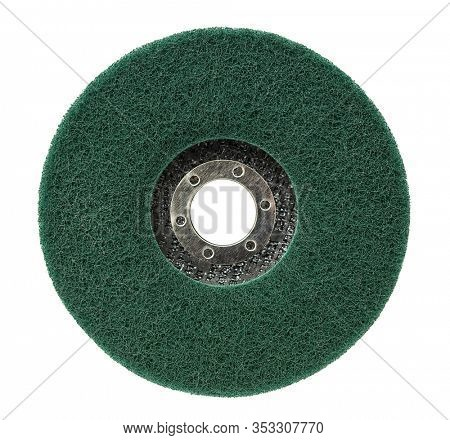 Abrasive disk for grinder isolated on white background, including clipping path
