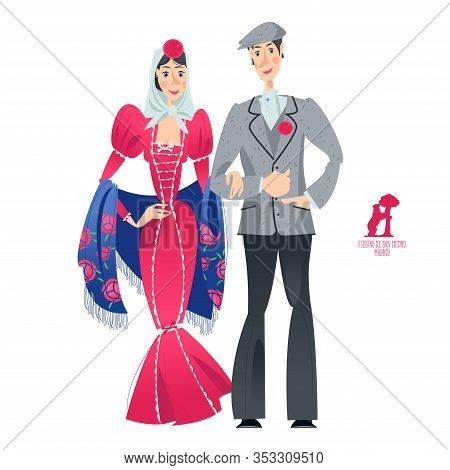 Couple In Traditional Clothes During The Festival Of
