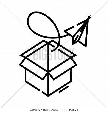Newsletter Line Icon, Concept Sign, Outline Vector Illustration, Linear Symbol.