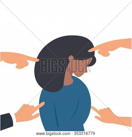 Bullying Or Humiliation At School Or College. Stop Social Bullying Concepts. Vector Illustration. Se