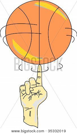 Spinning A Basketball