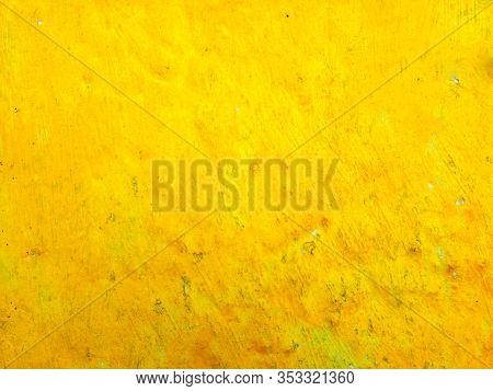Yellow Brown Painted Background, Abstract Background Bright Yellow Background. Juicy Yellow Color.