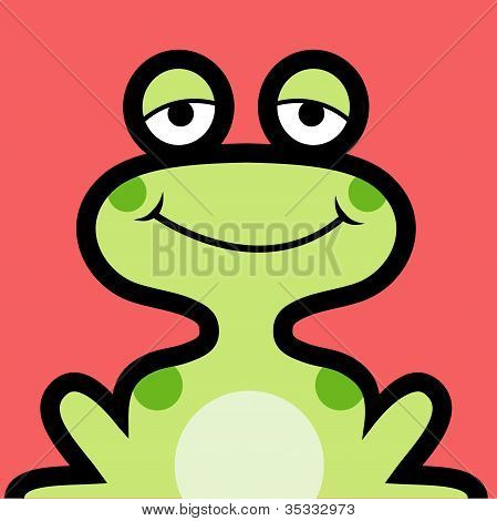Frog colorful icon. Use for avatar or icon design. poster